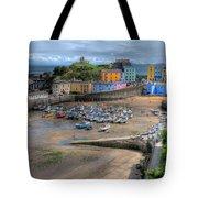 Tenby Harbour In Summer Tote Bag
