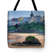 Tenby Over North Beach Painted Tote Bag