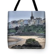 Tenby Over North Beach Tote Bag
