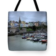 Tenby Town Across The Harbour Tote Bag