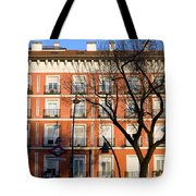 Tenement House Facade In Madrid Tote Bag