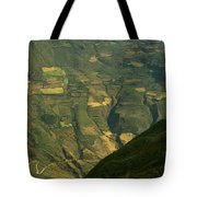 Terraced Fields Above Canyon Draining Tote Bag