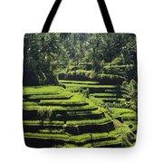 Terraced Rice Fields On Bali Island Tote Bag