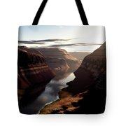 Terragen Render Of Trail Canyon Tote Bag