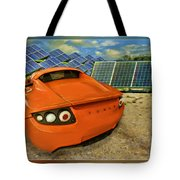 Tesla Car Tote Bag