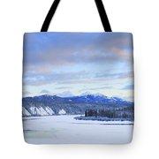 Teslin River At Sunset, Teslin, Yukon Tote Bag
