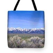 Teton National Park Panarama Tote Bag