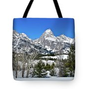 Teton Winter Landscape Tote Bag