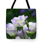 Texas Bluebell And Turquoise Visitor Tote Bag