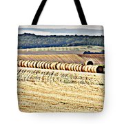 Textured Fields Of France Tote Bag