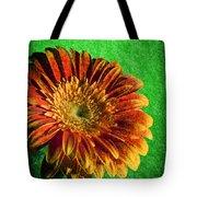 Textured Orange Flower Tote Bag