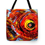 Textured Red Fish Tote Bag