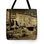Textured Square With Fountain Tote Bag