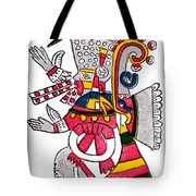Tezcatlipoca, Aztec God Of Night, Codex Tote Bag by Photo Researchers