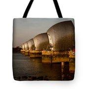 Thames Barrier London Tote Bag