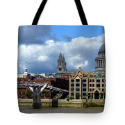 Thames River Panorama Tote Bag