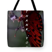 Thank You Card - Butterfly Tote Bag