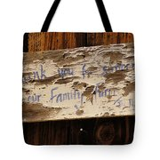 Thank You For Supporting Our Family Farm Tote Bag