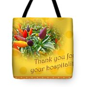 Thank You For Your Hospitality Greeting Card - Decorative Pepper Plant Tote Bag