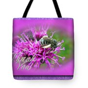 Thank You Greeting Card - Bumblebee On Ironweed Tote Bag