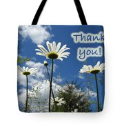 Thank You Greeting Card - Oxeye Daisy Wildflowers Tote Bag