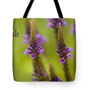 Thank You Wildflowers Tote Bag