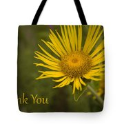 Thank You Yellow Aster Tote Bag