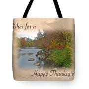 Thanksgiving Greeting Card - Autumn Creek Tote Bag