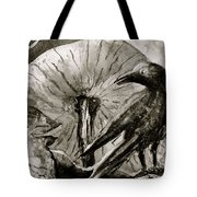 That Which Lies Behind In Black And White Tote Bag