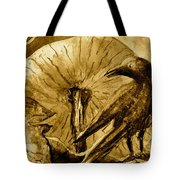 That Which Lies Behind In Sepia Tote Bag