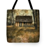Thatched Roof Cottage In The Woods Tote Bag