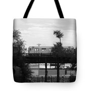 The 7 Line In Black And White Tote Bag
