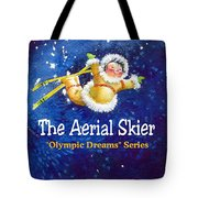 The Aerial Skier - Book Cover Tote Bag