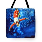 The Aerial Skier 20 Tote Bag