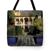 The Alhambra Palace Of The Partal Tote Bag