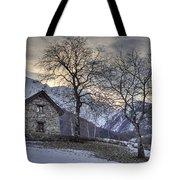 The Alps In Winter Tote Bag