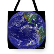 The Americas And Hurricane Andrew Tote Bag by Stocktrek Images