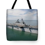 The Amphibious Assault Ship Uss Wasp Tote Bag