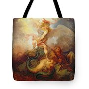 The Angel Binding Satan Tote Bag by Philip James de Loutherbourg