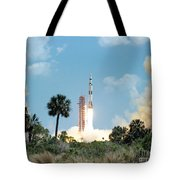 The Apollo 16 Space Vehicle Is Launched Tote Bag
