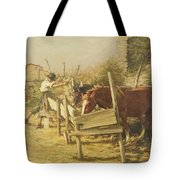 The Appian Way Tote Bag by Henry Herbert La Thangue