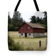 The Apple Barn Tote Bag by Lorraine Devon Wilke