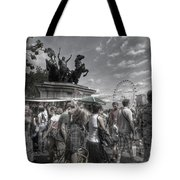 The Attack Of The Zombie Tourists Tote Bag