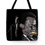 The Back And The Affront Of Miles Davis Tote Bag