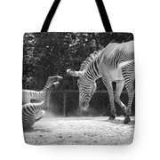 The Back End In Black And White Tote Bag