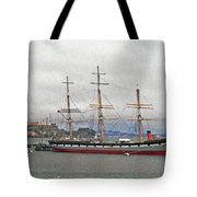 The Balclutha Ship And Alcatraz Island Tote Bag