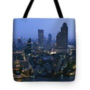 The Bangkok Skyline At Dusk Tote Bag