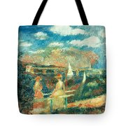 The Banks Of The Seine At Argenteuil Tote Bag