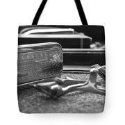 The Barber Shop 1 Bw Tote Bag