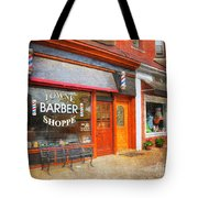 The Barber Shop Tote Bag